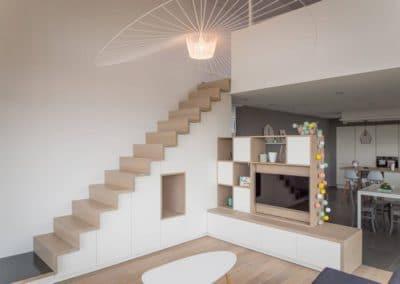 Aménagement sur mesure - Escalier + meuble