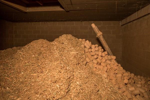 Politique de recyclage chez Alain Rosen - sciures de bois