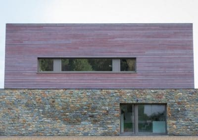 Bardage en cèdre - Nouvelle construction (Malmedy)