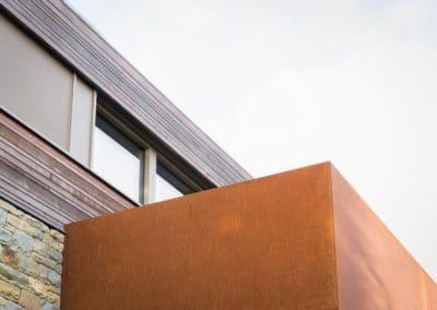 Cèdre x acier corten - nouvelle construction Alain Rosen