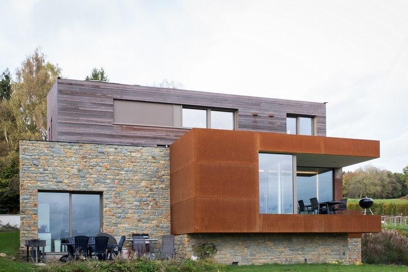 bardage en bois et en acier corten pour une nouvelle. Black Bedroom Furniture Sets. Home Design Ideas
