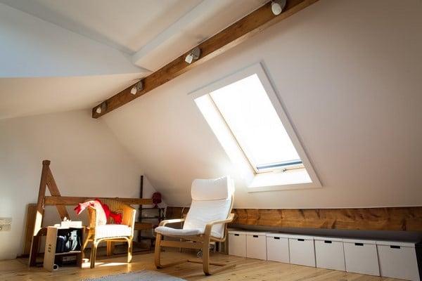 am nagement int rieur avec nouveaux ch ssis et fen tre de toit alain rosen sprl. Black Bedroom Furniture Sets. Home Design Ideas