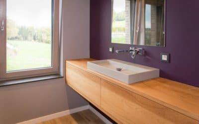 Création de meubles de salle de bains sur mesure