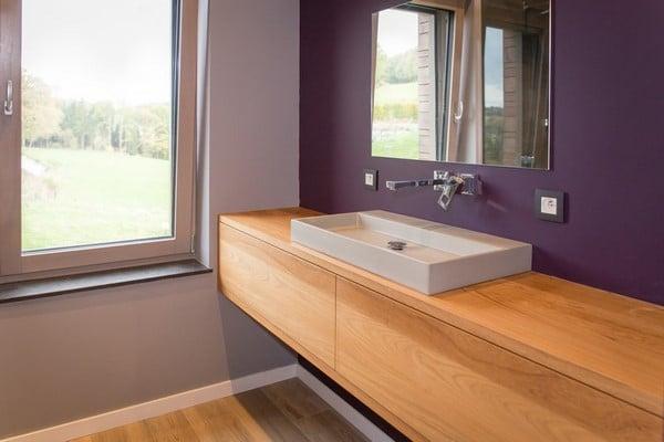 Cr ation de meubles de salle de bains sur mesure alain Creation meuble salle de bain