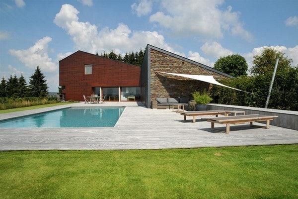 Terrasse en bois à Malmedy (Liège)