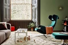 Divan et fauteuil de la marque Vitra