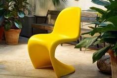 Chaise jaune design Vitra