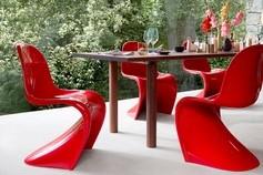 Table et chaises d'extérieur Vitra (Malmedy: Alain Rosen)