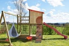 Module de jeux Woody Up (balançoire, toboggan, escalade, cacoon bonsai)