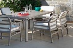 Table de jardin, chaises de jardin et coussins Sun Garden | Alain Rosen (Malmedy)