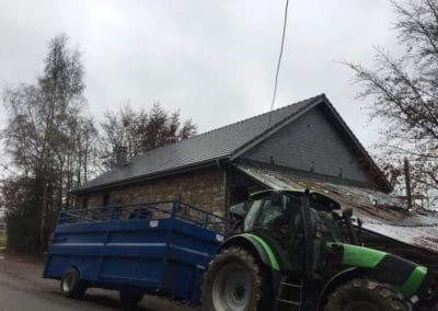 Nouvelle toiture incendie Malmedy