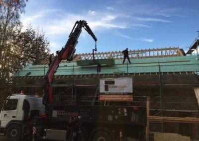 Rénovation toit incendie