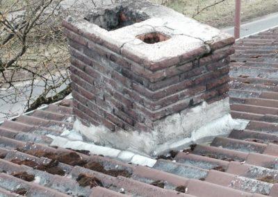 Rénovation toiture cheminée