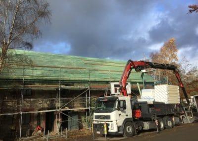 Rénovation toiture Malmedy incendie