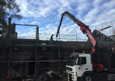 Rénovation toitures Malmedy incendie