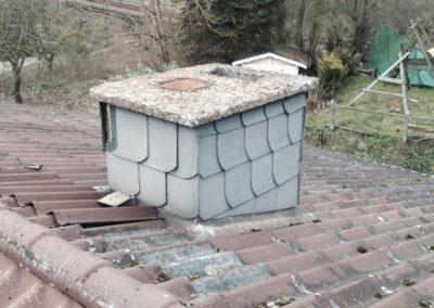 Toiture cheminée