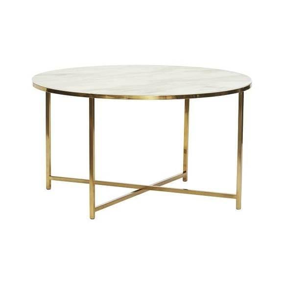 Table en marbre de la marque Hübsch