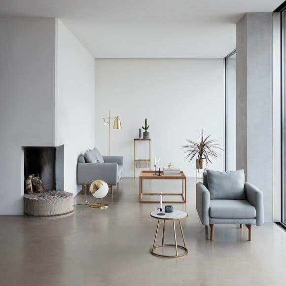 Salon avec mobilier de la marque Hübsch