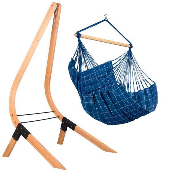 Chaise hamac bleu - La Siesta