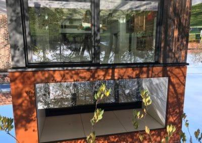 Garde-corps en verre autoportant