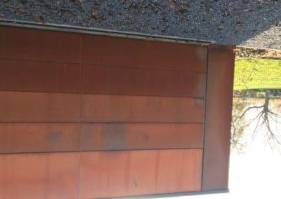 Bardage - Acier corten et panneaux Trespa
