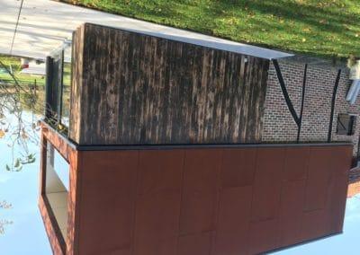 Réalisation en acier corten - Panneaux trespa collés